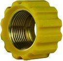 Überwurfmutter gelb für Waschgerätepressnippel M22 IG, Ø = 16,4 mm