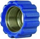 Überwurfmutter blau für Waschgerätepressnippel M22 IG, Ø = 16,4 mm