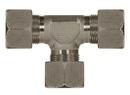 Schneidringverschraubung Typ T 24° Stahl verzinkt 22 mm L