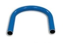 Druckluftrohr Bogen 180° Aluminium blau, Typ DN 22x19