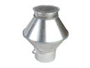 Deflektorhaube strömungsoptimiert, Ø 125 mm.
