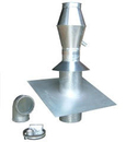 Ausblasrohrleitung 0 - 30°, Ø 200 mm.