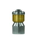 """Rotations-Rohrreinigungsdüse ST-49.1 ohne Frontbohrung 1/4"""" IG, Ø = 19 mm, D 45"""