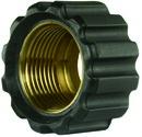 Überwurfmutter schwarz für Waschgerätepressnippel M22 IG, Ø = 17,3 mm
