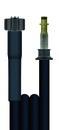 Hochdruckschlauch schwarz 10 m DN 6, 1SN, M22 IG - PKS 10 (15,5 Ø) zu System 2000