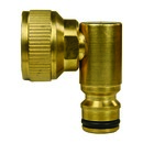 """Wasserschnellkupplung Hahnstück 3/4"""" AG Messing 90°"""