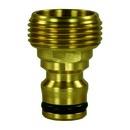 """Wasserschnellkupplung Hahnstück 3/4"""" AG Messing"""