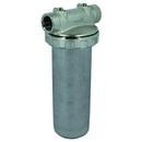 "Wasserfilter Messing/Edelstahl 3-teilig, rot, 1"" IG, ohne Filtereinsätze"