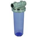"""Wasserfilter Messing vern./Kunststoff 3-teilig, rot, 1"""" IG, ohne Filtereinsätze"""