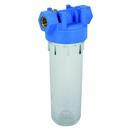 """Wasserfilter Kunststoff 2-teilig, blaues Gehäuse, 3/4"""" IG, ohne Filtereinsätze"""