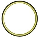 OP O-Ring 22 HNBR gelb oder grün, für Oel